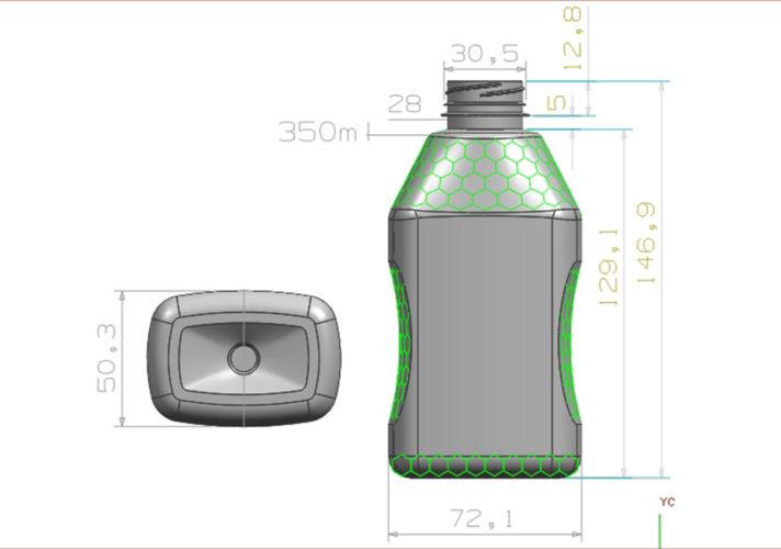 Ergopack δοχεία συσκευασία squeeze 350 ml